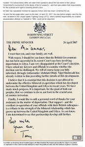 'Tony Blair's grovelling letter to Colonel Gaddafi Daily Mail Online' HERE