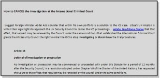 How to CANCEL the investigation at the International Criminal Court