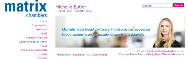 Matrix Chambers' Michelle Butler represents the Libya Government at the International Criminal Court.