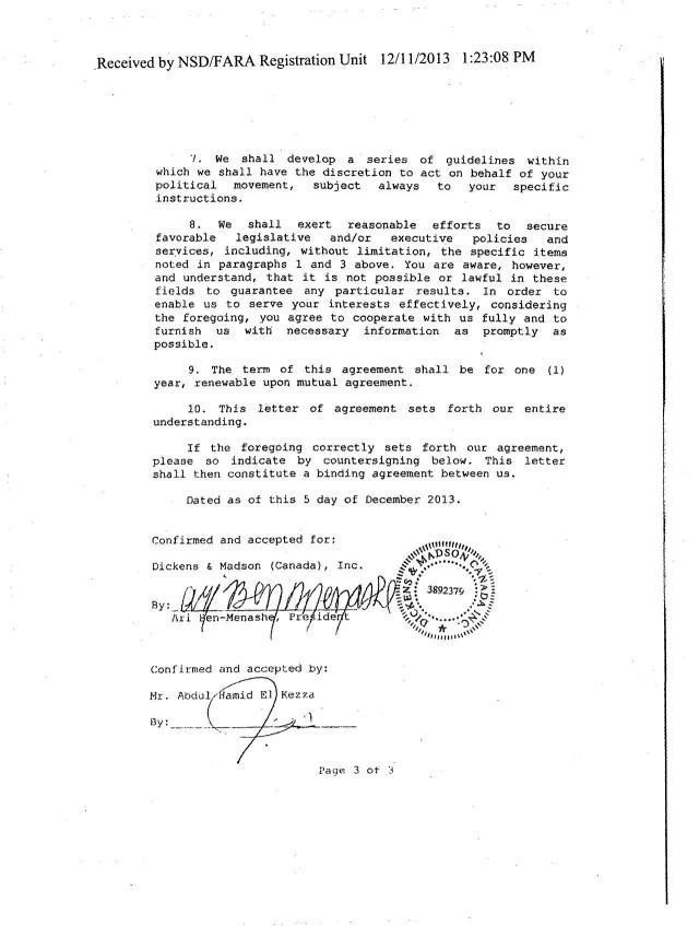 Ari Ben-Menashe's consultancy agreement with Ibrahim Jathran