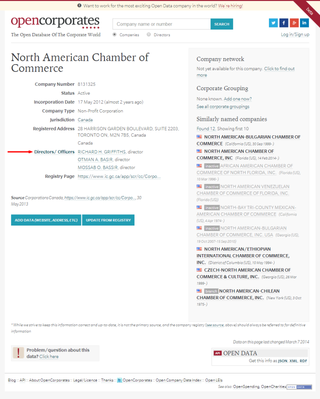 North American Chamber of Commerce    OpenCorporates
