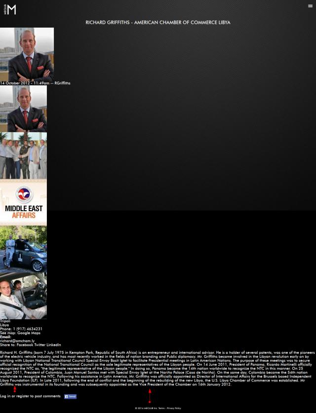 'Richard Griffiths - American Chamber of Commerce Libya 'MECLUB'