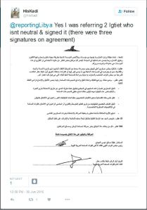 - 'HisKadi on Twitter_ _@reportingLibya Yes I was referring 2 Igtiet who isnt neutral & signed it (there were three signatures on agreement) https___t_co_hix68mGkTP_' - twitter_com_H