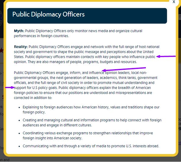 Career Tracks U.S. Department of State Public Diplomacy Officers