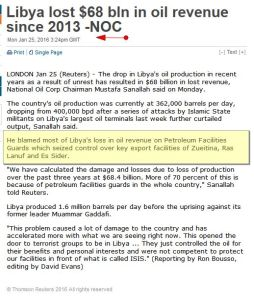 Petroleum Facilities Guards which seized control.. 'Libya lost $68 bln in oil revenue since 2013 -NOC I News by Country I Reuters'