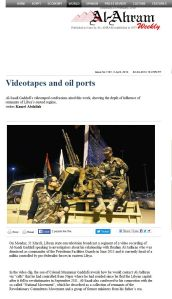 SAADI GADDAFI 'Videotapes and oil ports - Al-Ahram Weekly'