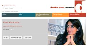Amal Alamuddin Doughty Street Chambers