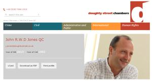 John R.W.D Jones QC Doughty Street Chambers, Saif Gaddaif's ICC Lawyer