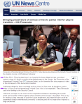ICC Prosecutor addresses Security Council. Semi-annual assessment of Libya. 13th May 2014 United Nations News Center. Here
