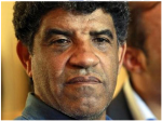 Abdulla Senussi, Muammar Gaddafi's spy chief and brother-in-law. Amal Alamuddin and Ben Emmerson are his ICC lawyers.