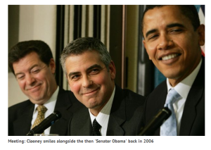 George Clooney campaigning for Senator Obama 2006 Mirror Online Here