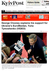 Mr. Clooney 8th February 2014, Berlin KYIV Post