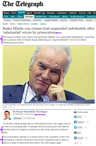 Ratko Mladic's trial suspended indefinitely The Telegraph Photo AP