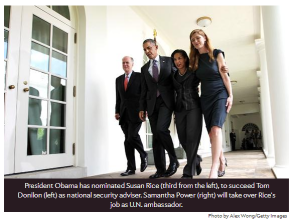 Susan Rice, Samantha Power, President Obama. Slate.com Photo Alex Wong/Getty Images Here