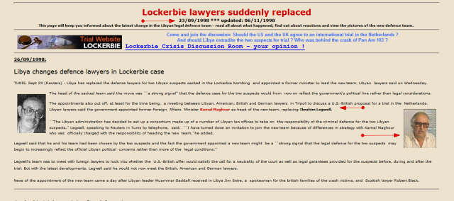 Ibrahim Legwell, Libya's Lockerbie Lawyer