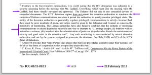 ICC Document 1556728 22 Feb 2013 Libya Failed to establish a problem
