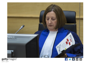 Judge Silvia Fernandez de Gurmendi sits on March 27 2014 Getty Images