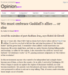 'We must embrace Gaddafi's allies ... or else.' FT.com HERE