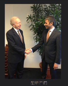 'Basit Igtet with Senator Joe Lieberman' Flickr Congressional Tour