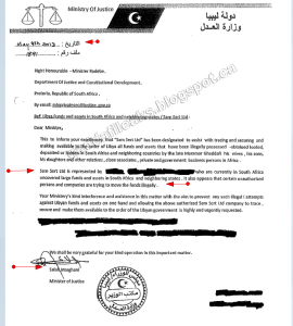 Letter Ministry of Justice 2013 Gaddafi Leaks: Crimes and Scandals