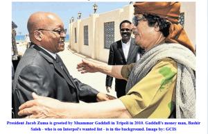 'Gaddafi. SA President Jacob Zuma & Bashir Saleh