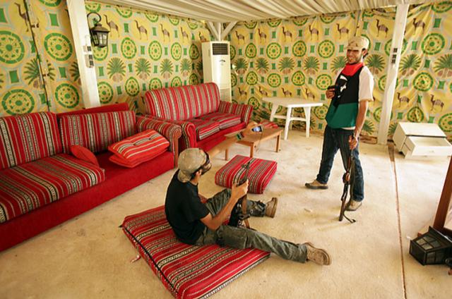 خيمة القذافي Rebuilding Ali Baba's tent. HERE