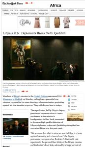 'Libya's U_N_ Diplomats Break With Qaddafi - NYTimes_com