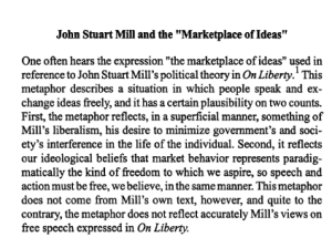 Marketplace of ideas 'JSTOR_ Social Theory and Practice, Vol_ 23, No_ 2 (Summer 1997), pp_ 235-249'