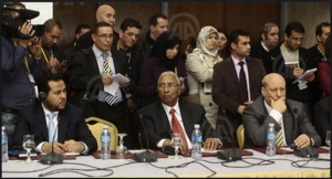 Mohammed Al Hawni at the UNSMIL Libyan Unity Government Talks
