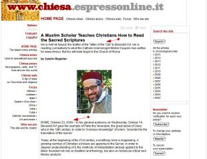 A Muslim Scholar Teaches Christians How to Read the Sacred Scriptures'