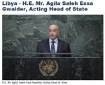 At the UN - 'Libya - H_E_ Mr_ Agila Saleh Essa Gwaider, Acting Head of State I Africa Renewal Online' -