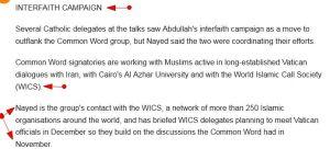 'Christian-Muslim dialogue spreading like the Internet I Reuters' in_reuters_com_article_2008_11_24_idINIndia-36670020081124 -