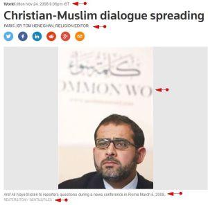 'Christian-Muslim dialogue spreading like the Internet I Reuters'