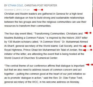Christian Post ACW- WICS HEADS 'Christians, Muslims Gather to Build a Common Future' -