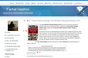 'Dr Farhat Hashmi Amongst The 500 Most Influential Muslims-2010 I Farhat Hashmi' - www_farhathashmi_com_profile-section_500-influential-muslims-2010