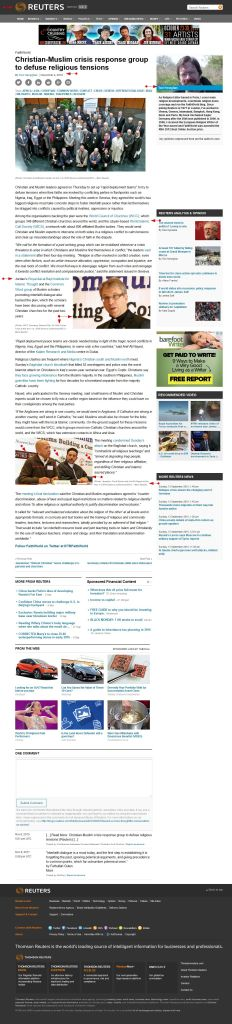 GENEVA 2010 'Christian-Muslim crisis response group to defuse religious tensions' - FaithWorld Blog