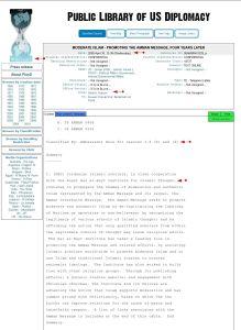 Wikileaks 'Cable Amman Jordan 2008