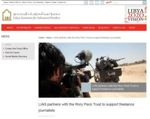 LIAS partners with Rory Peck Trust-to support freelance journalists