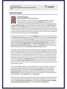 Maghreb Confidential Aref Ali Nayed -Libyan Investment Authority
