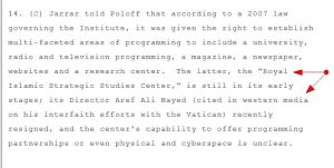 Dr. Nayed RISSCO 2008 WIKILEAKS CABLE