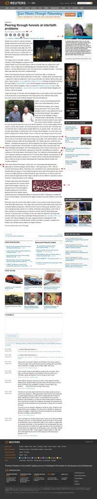 WICS ACW LINK- 'Peering through funnels at interfaith problems' FaithWorld