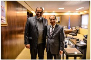 Aref Ali Nayed with Ambassador Ibrahim Al Dabashi at the Permanent Mission of Libya to the UN in New York