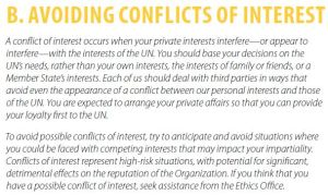 UN Employment Pamphlet - Avoiding Conflicts of Interest - Putting Ethics to Work.