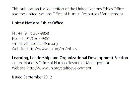 UN ETHICS OFFICE