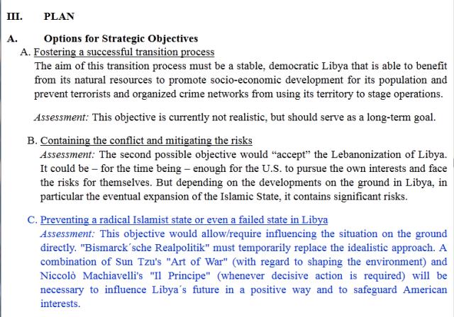 Options for Strategic Objectives Written Testimony UK Government