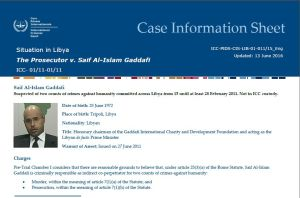Saif Gaddafi ICC Case Information Sheet