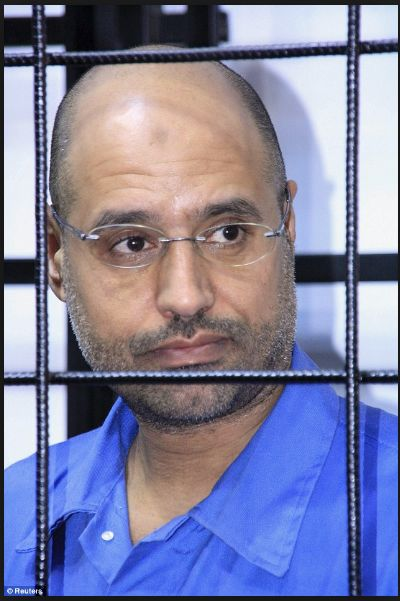 Reuters Image Daily Mail online Saif Gaddafi