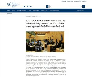 Saif Gaddfi Press release 2014 '
