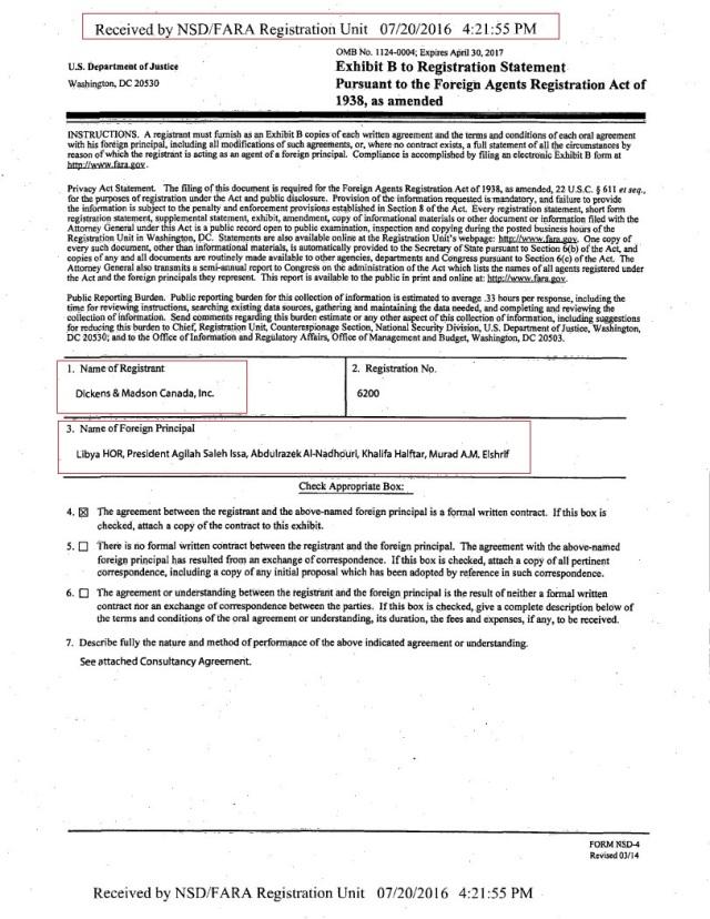 PAGE 3 6200 REGISTRATION PAGE 2 6200 REGISTRATION PAGE 1 6200 REGISTRATION FARA HoR, Agilah Saleh, Khalifa Heftar