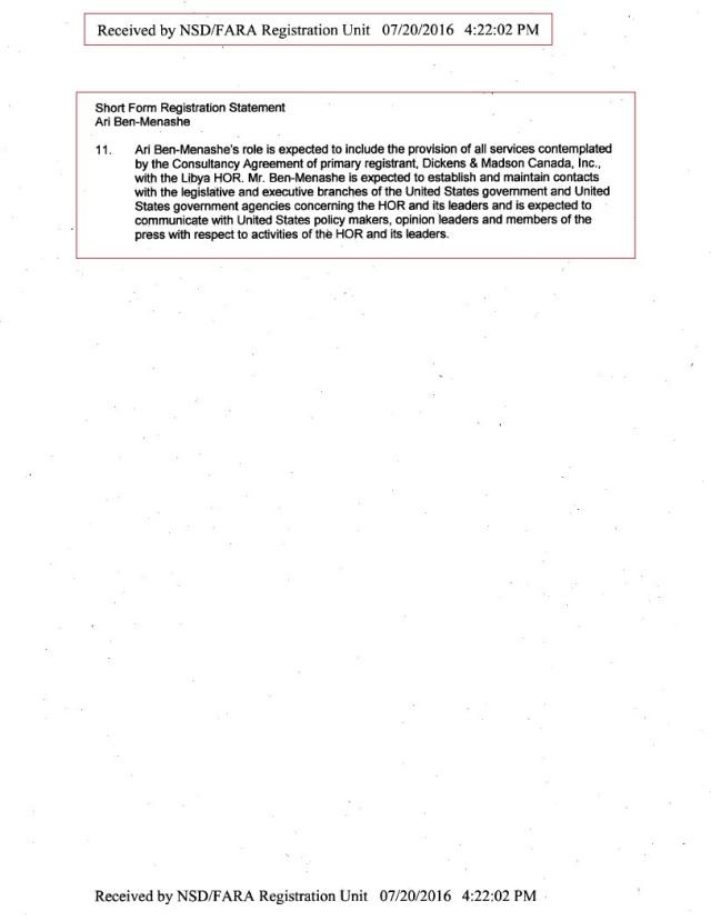 PAGE 3 SHORT FORM FARA 6200 HoR, Agilah Saleh, Khalifa Heftar